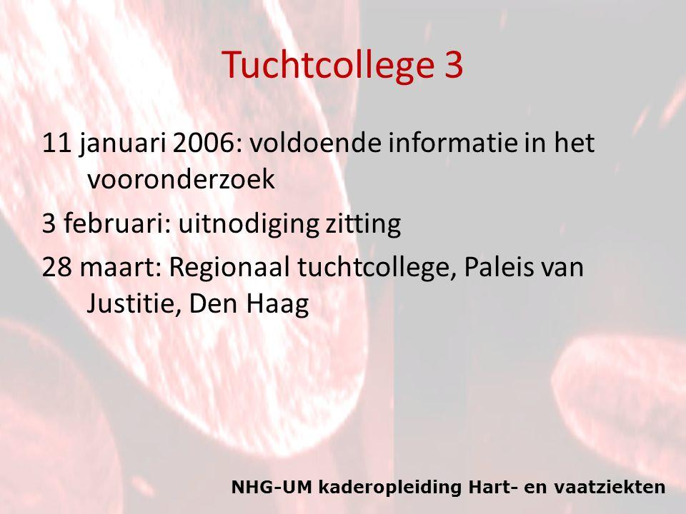 Tuchtcollege 3 11 januari 2006: voldoende informatie in het vooronderzoek. 3 februari: uitnodiging zitting.