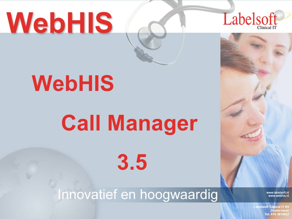 WebHIS Call Manager 3.5