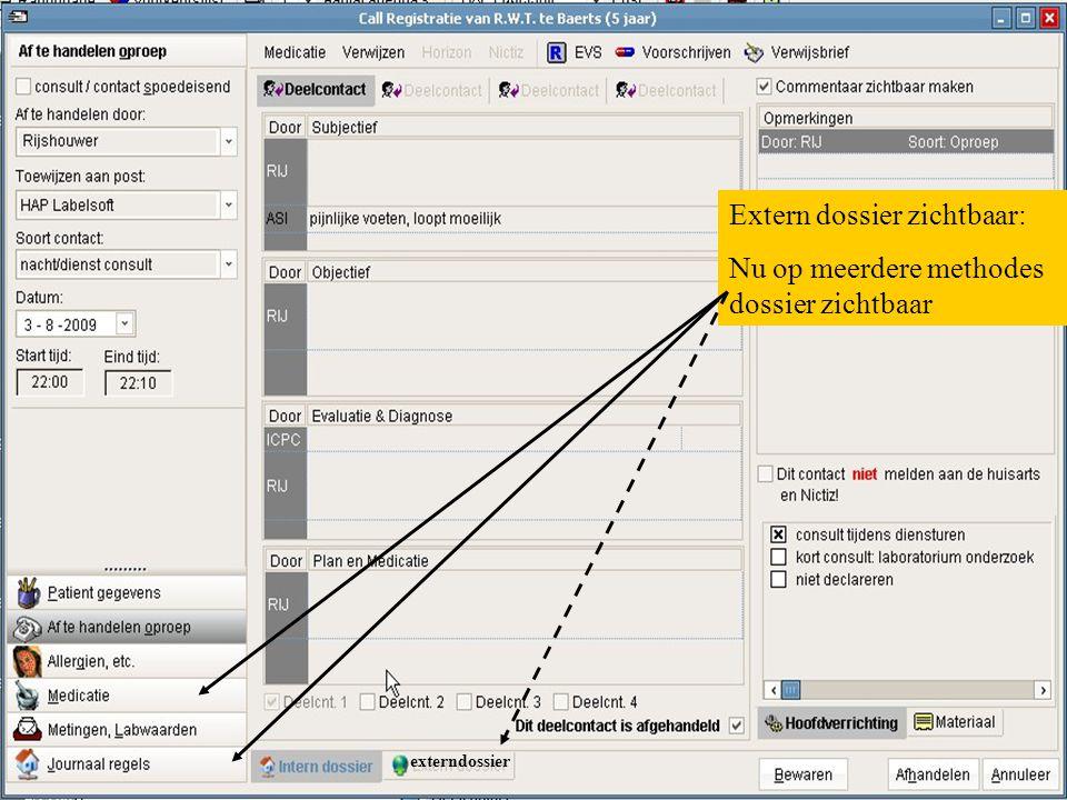 Extern dossier zichtbaar: Nu op meerdere methodes dossier zichtbaar