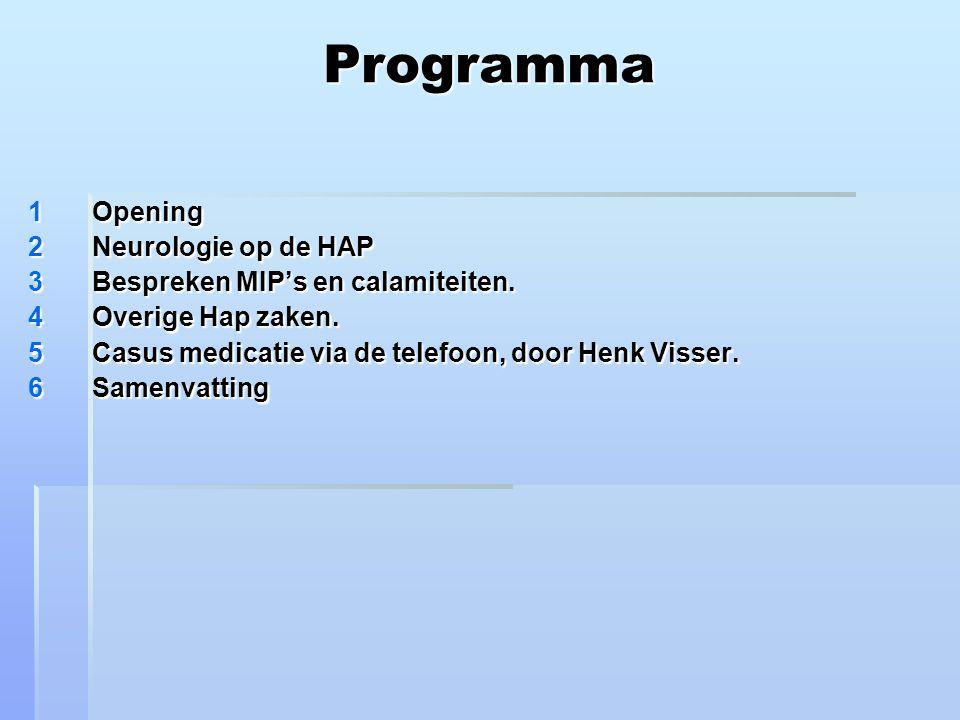 Programma Opening Neurologie op de HAP