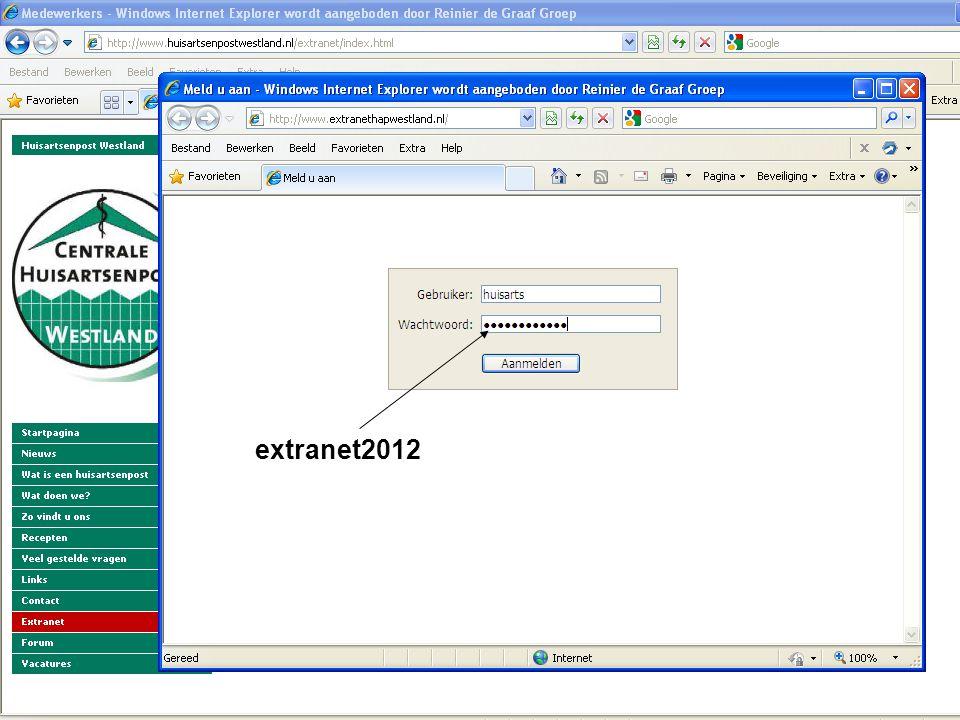 Afspraken extranet2012