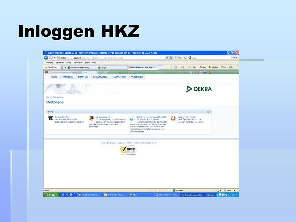Inloggen HKZ