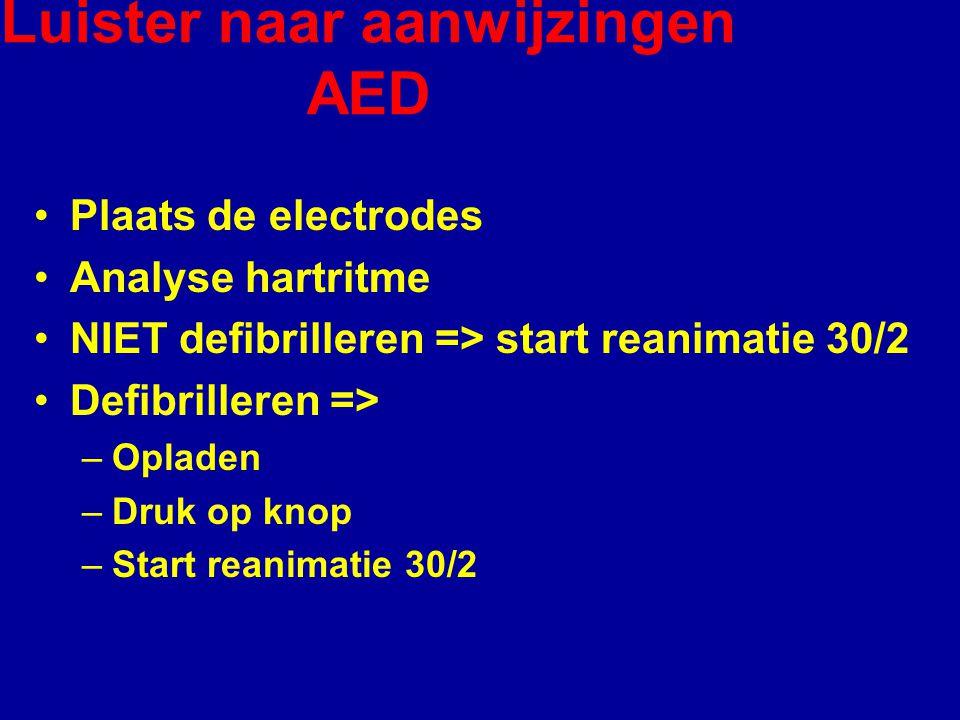 Luister naar aanwijzingen AED