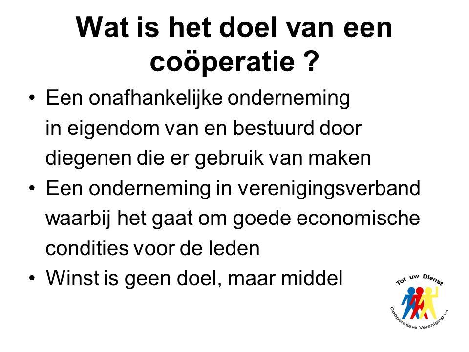 Wat is het doel van een coöperatie
