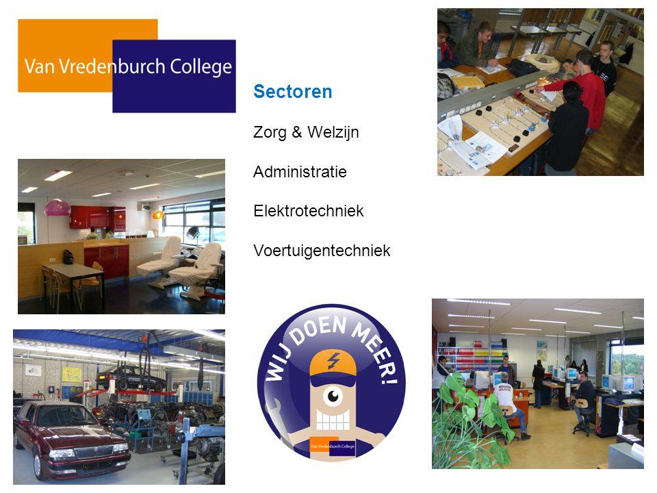 Sectoren Zorg & Welzijn Administratie Elektrotechniek