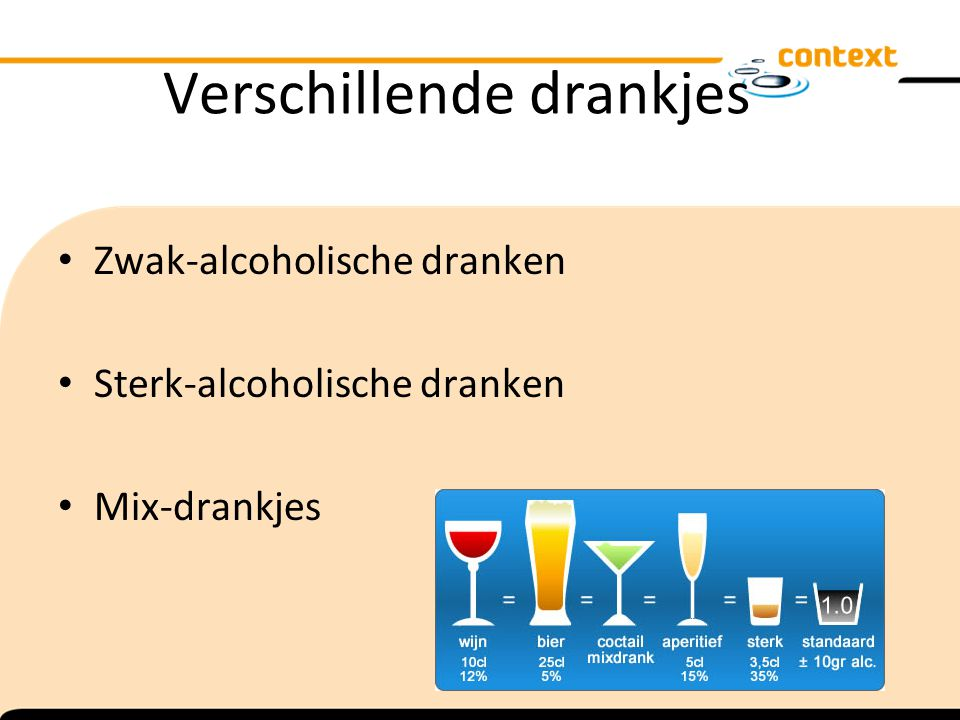 Verschillende drankjes