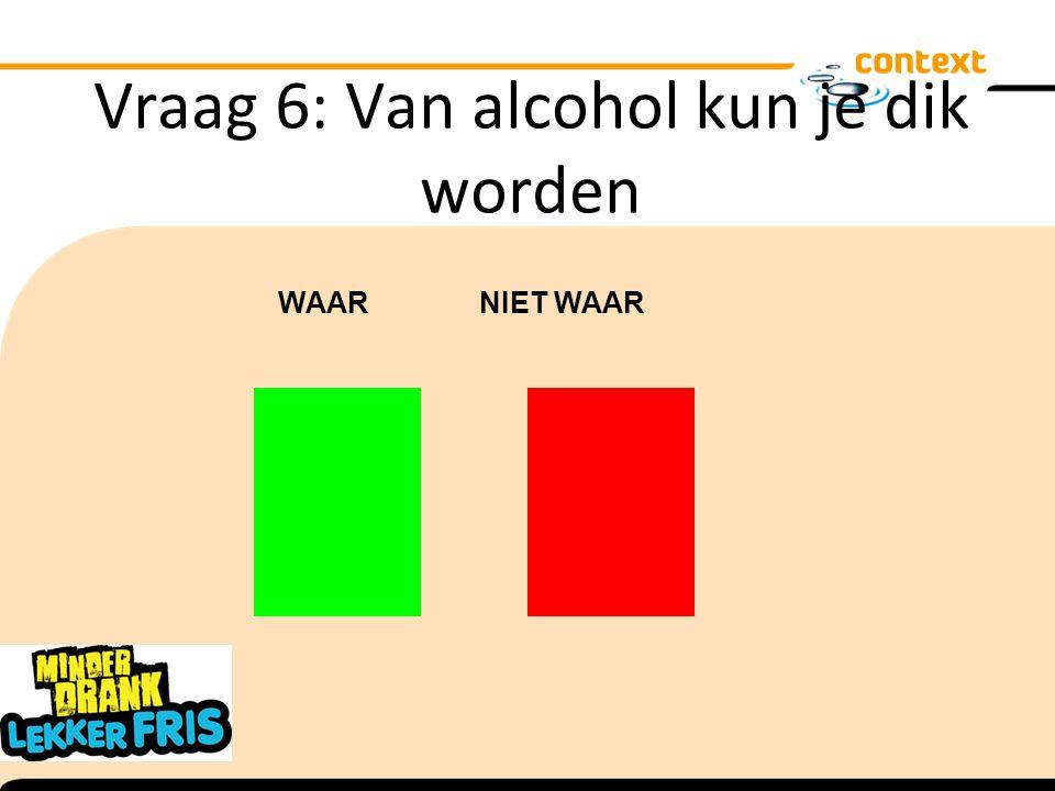 Vraag 6: Van alcohol kun je dik worden