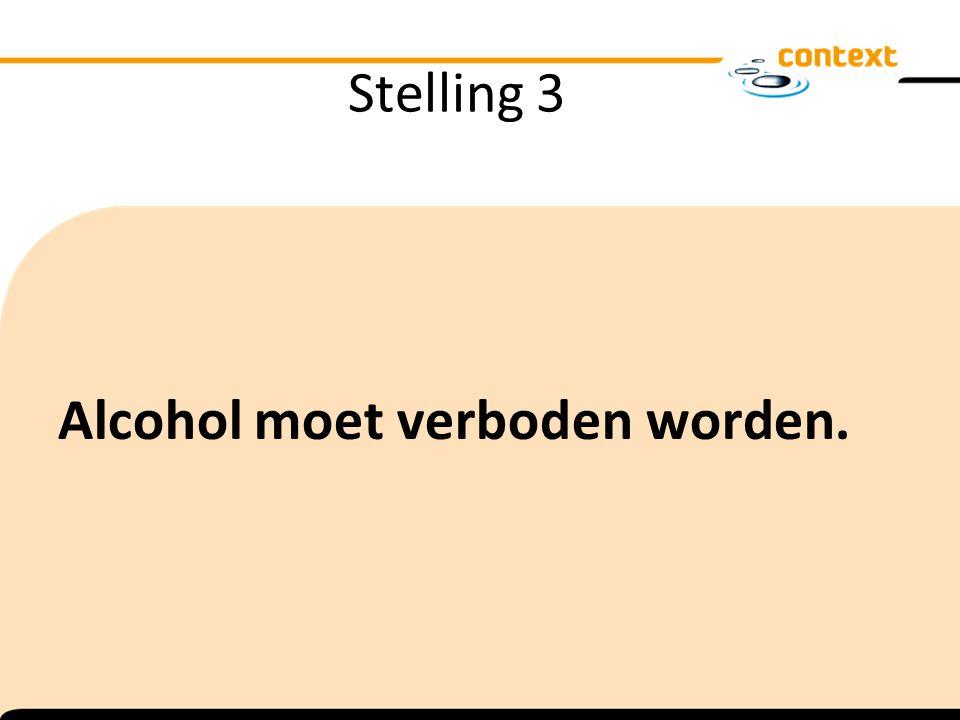 Stelling 3 Alcohol moet verboden worden.