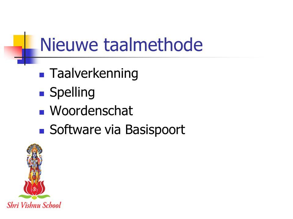 Nieuwe taalmethode Taalverkenning Spelling Woordenschat