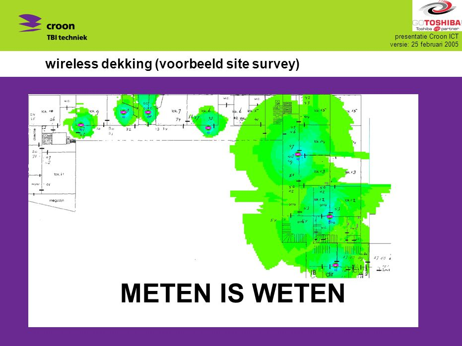 wireless dekking (voorbeeld site survey)