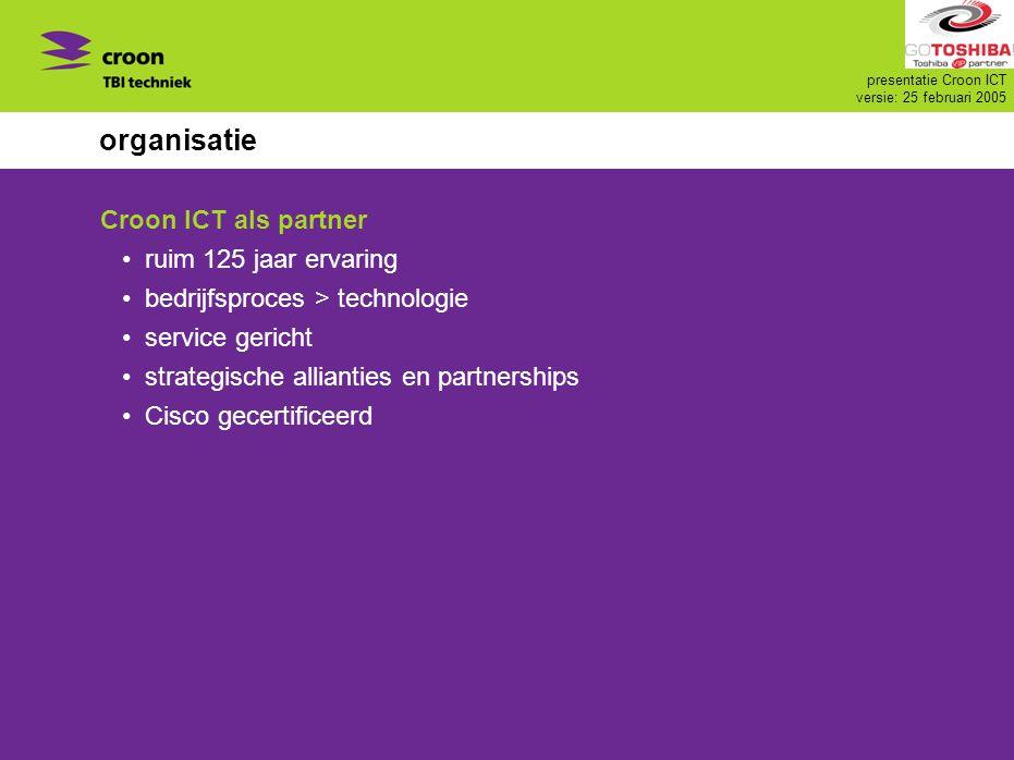 organisatie Croon ICT als partner ruim 125 jaar ervaring