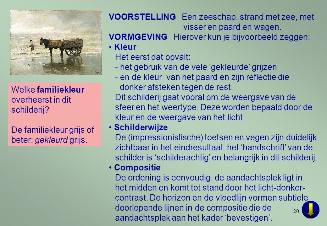 VOORSTELLING Een zeeschap, strand met zee, met