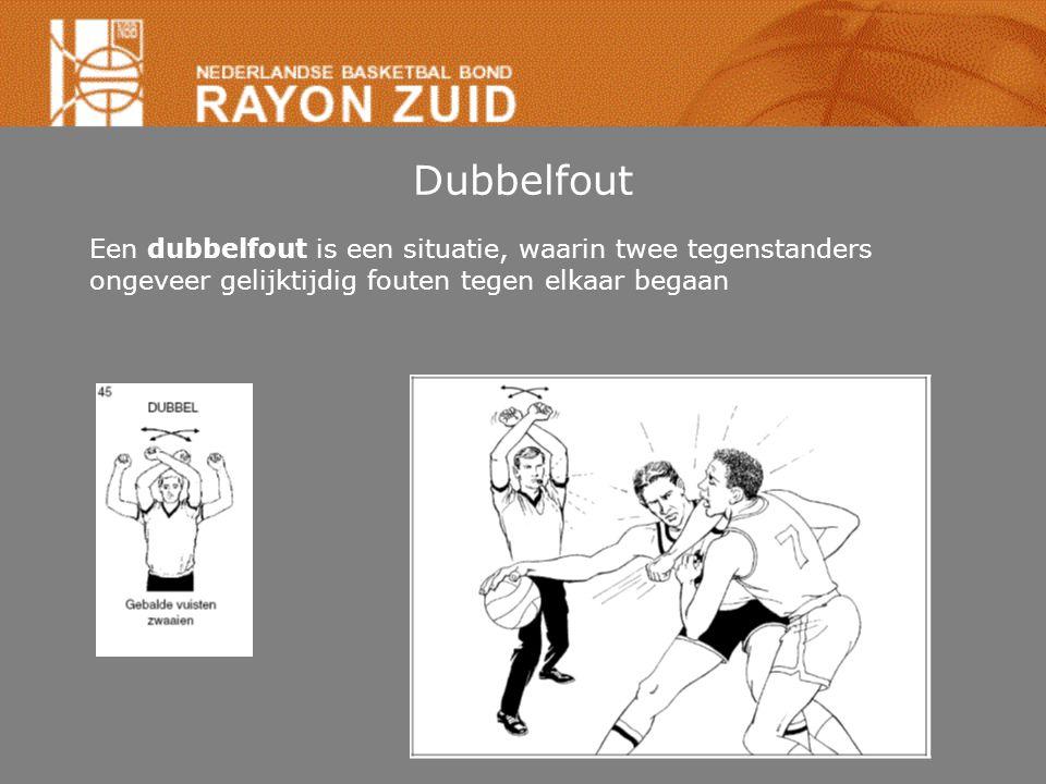 Dubbelfout Een dubbelfout is een situatie, waarin twee tegenstanders ongeveer gelijktijdig fouten tegen elkaar begaan.