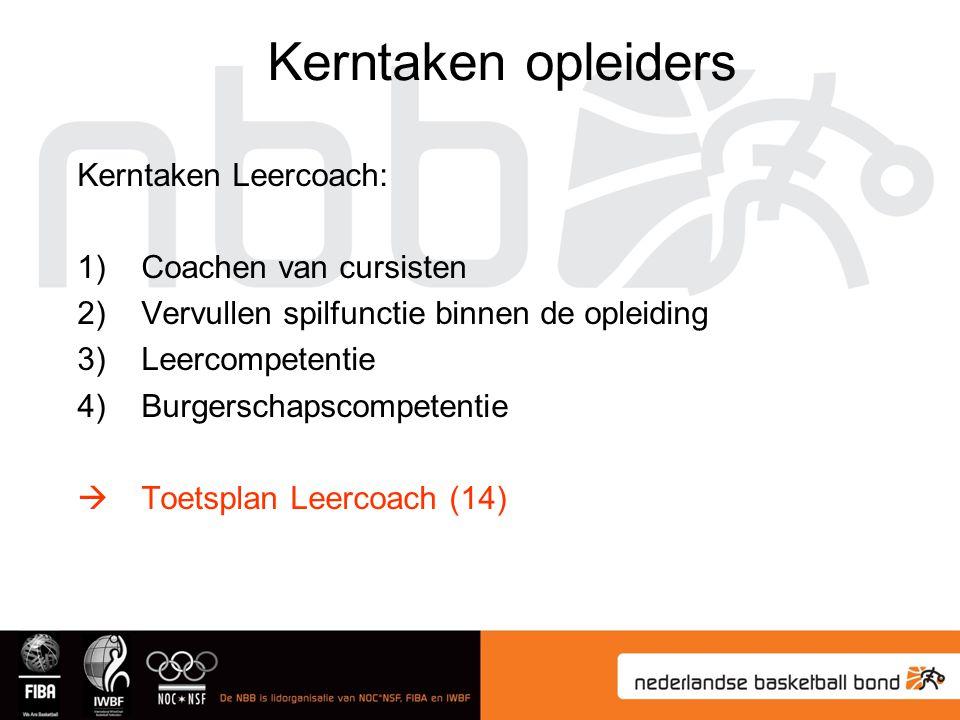 Kerntaken opleiders Kerntaken Leercoach: Coachen van cursisten