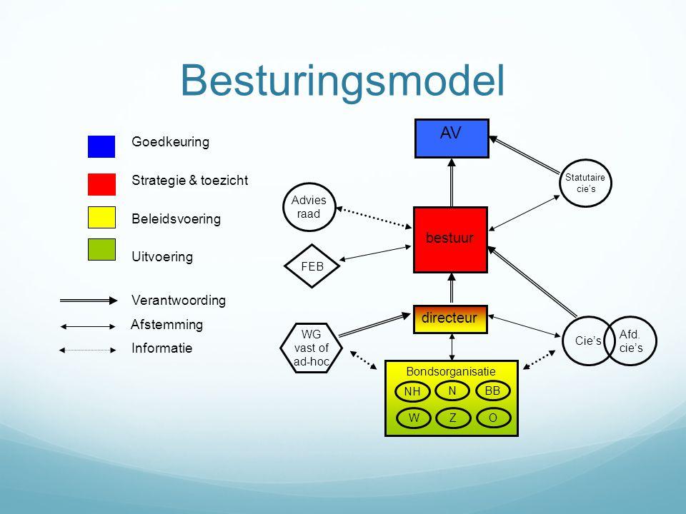 Besturingsmodel AV bestuur directeur Goedkeuring Strategie & toezicht
