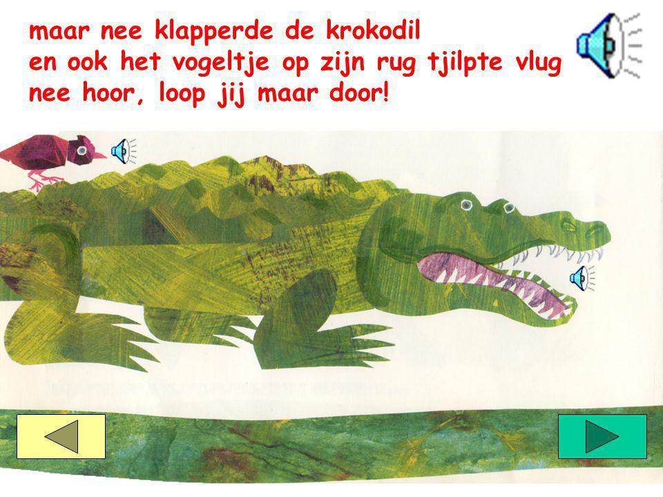 maar nee klapperde de krokodil