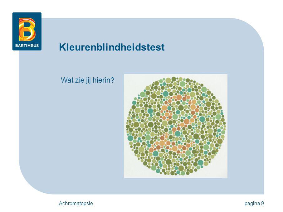 Kleurenblindheidstest