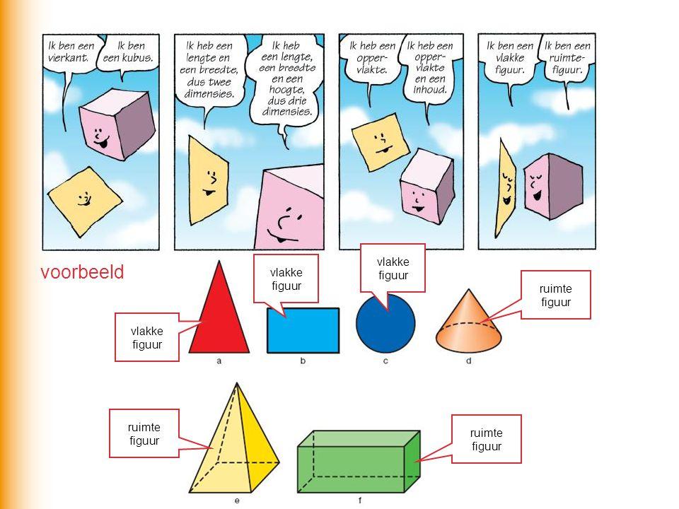 voorbeeld vlakke figuur vlakke figuur ruimte figuur vlakke figuur