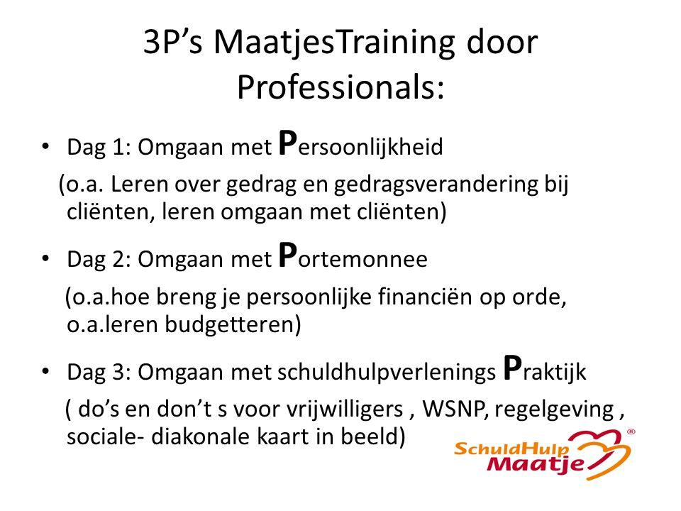 3P's MaatjesTraining door Professionals: