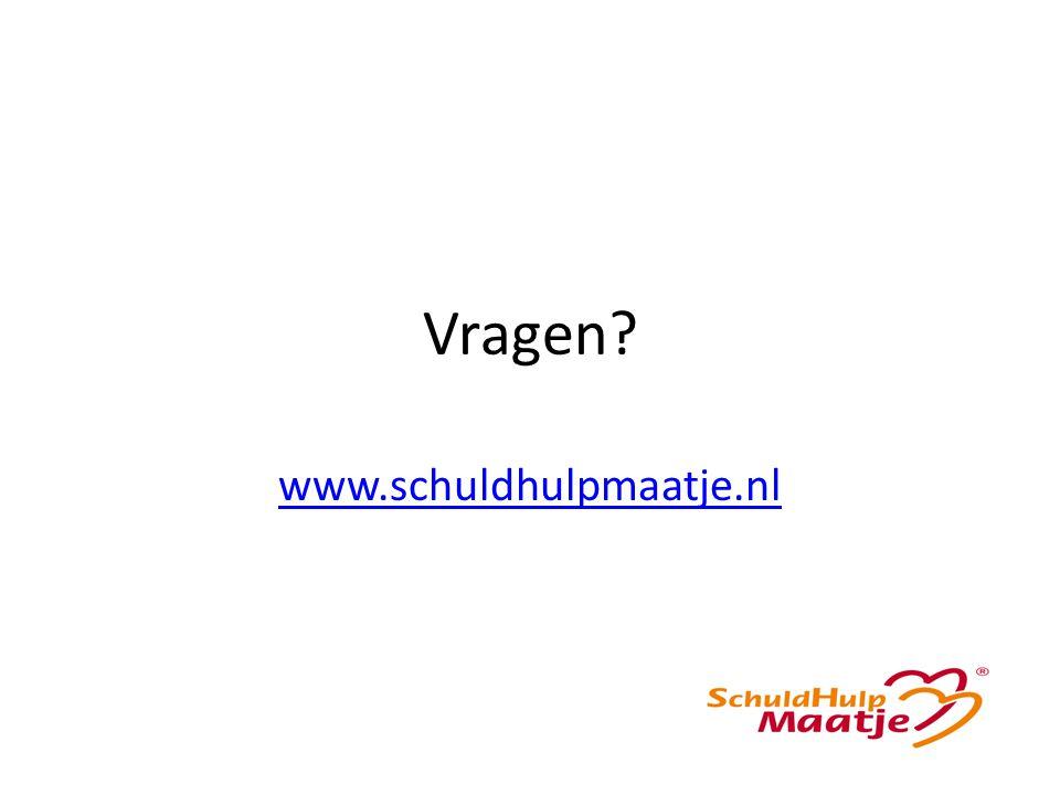 Vragen www.schuldhulpmaatje.nl