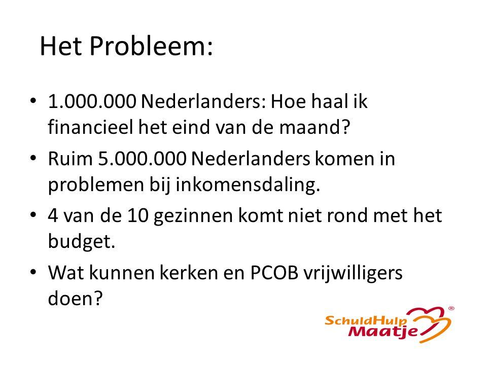 Het Probleem: 1.000.000 Nederlanders: Hoe haal ik financieel het eind van de maand