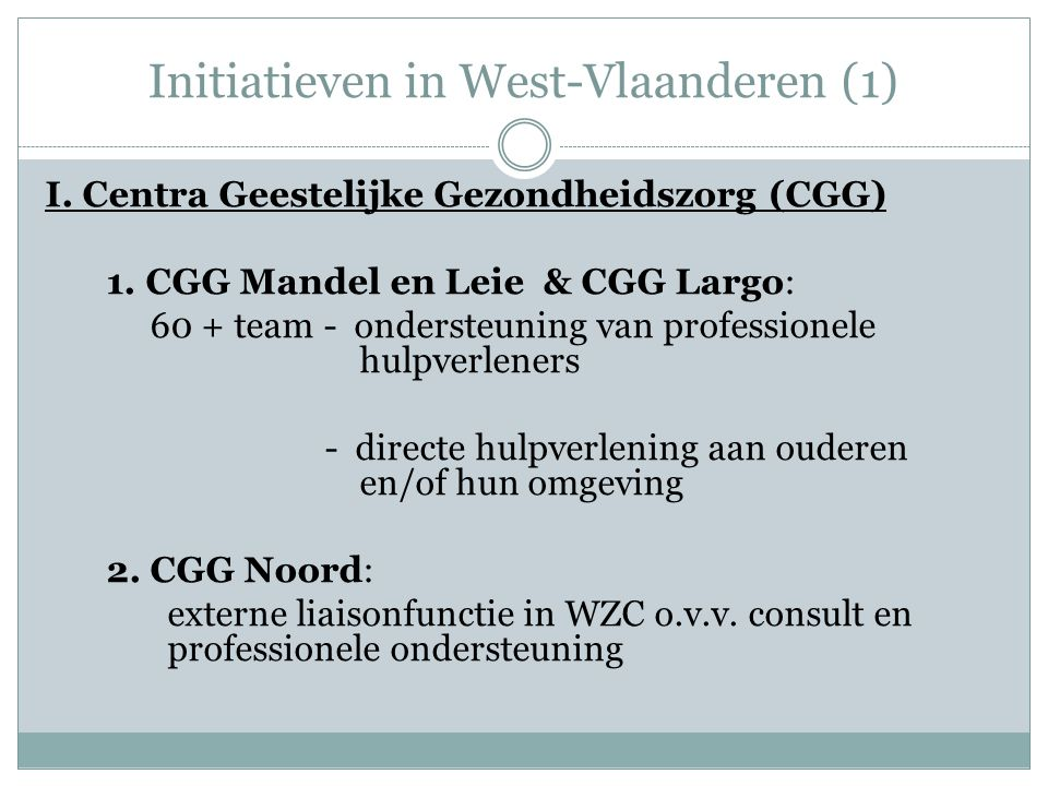 Initiatieven in West-Vlaanderen (1)