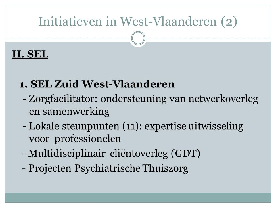 Initiatieven in West-Vlaanderen (2)