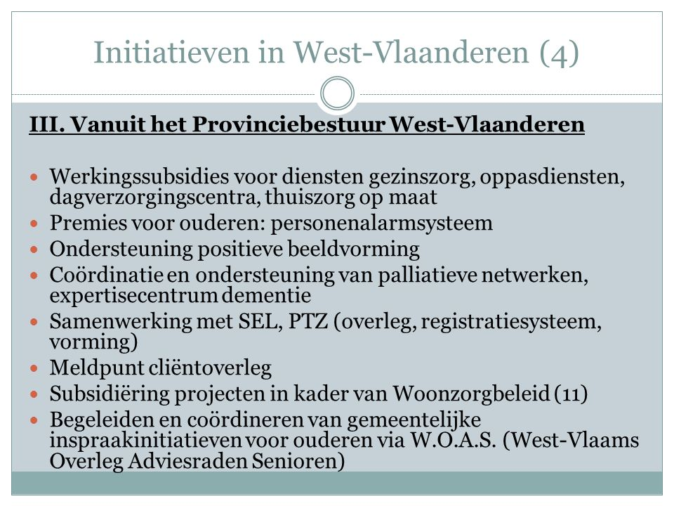Initiatieven in West-Vlaanderen (4)