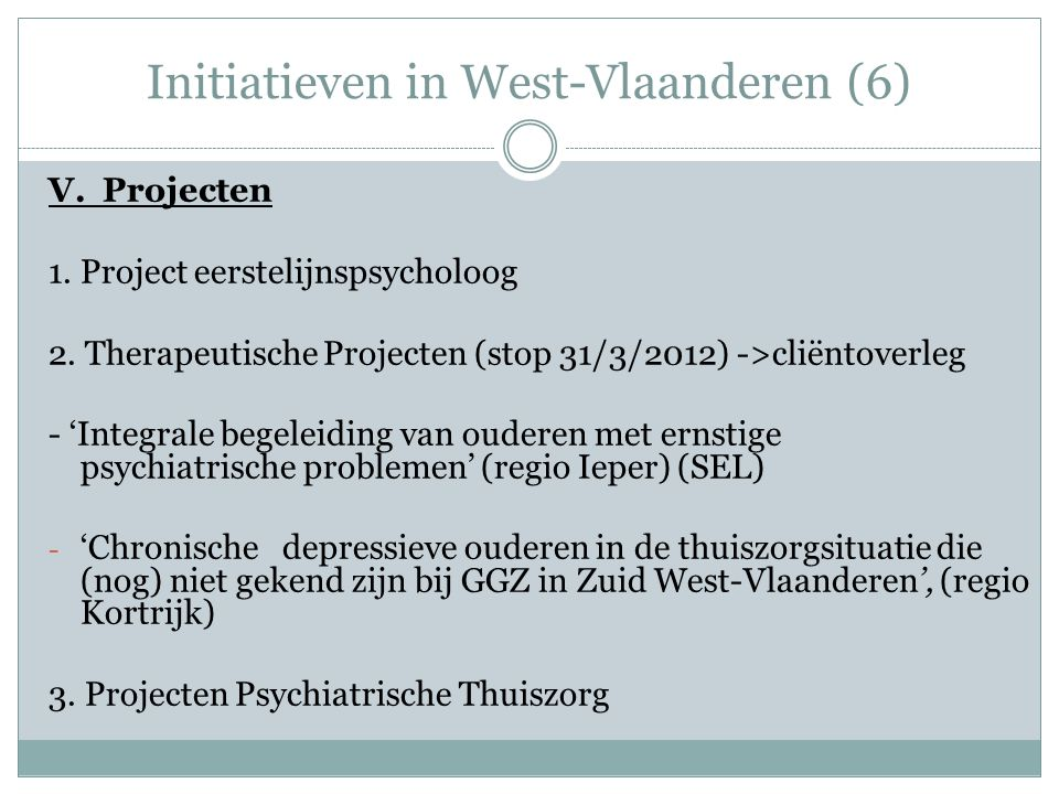Initiatieven in West-Vlaanderen (6)