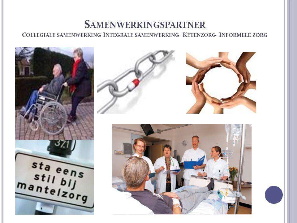 Samenwerkingspartner Collegiale samenwerking Integrale samenwerking Ketenzorg Informele zorg