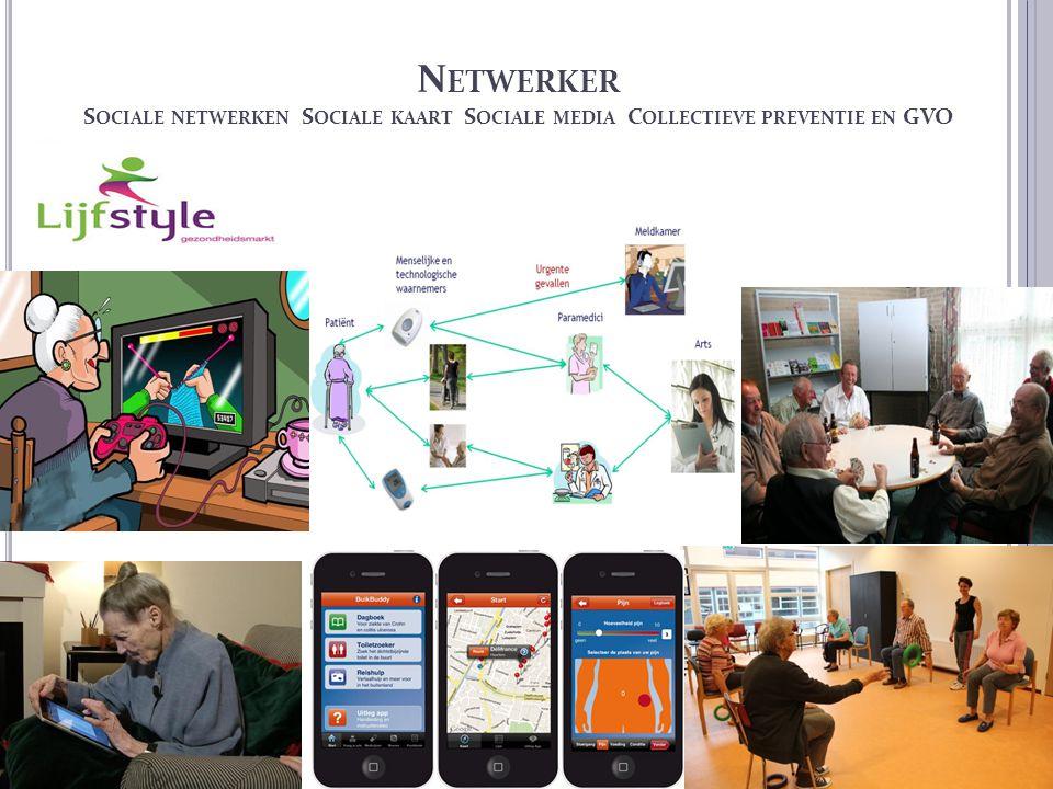 Netwerker Sociale netwerken Sociale kaart Sociale media Collectieve preventie en GVO