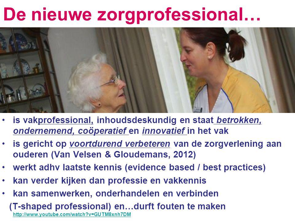 De nieuwe zorgprofessional…