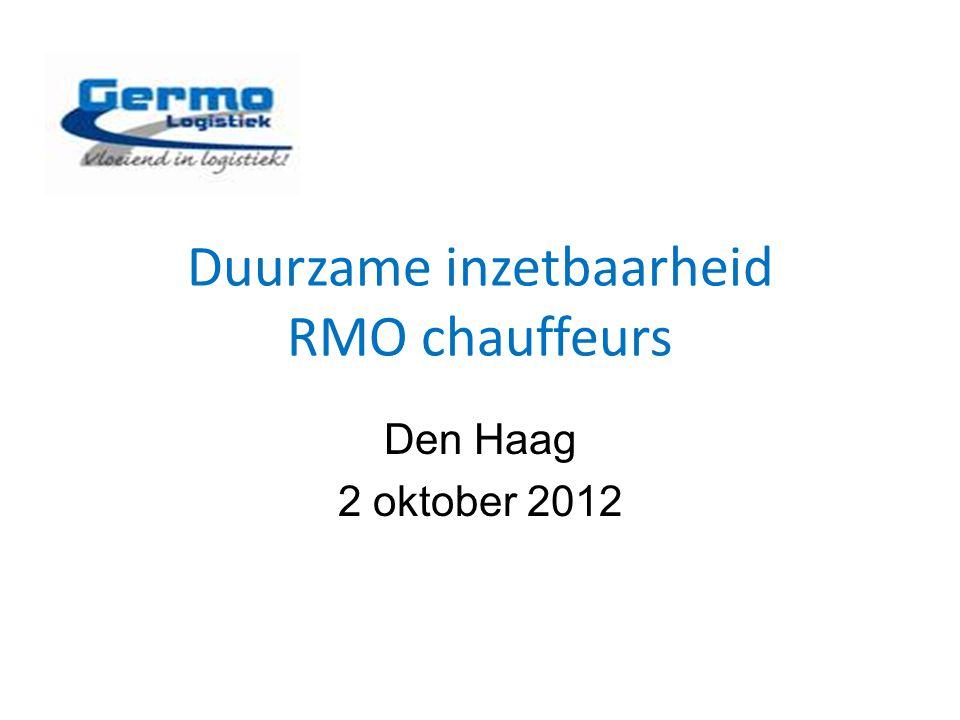 Duurzame inzetbaarheid RMO chauffeurs