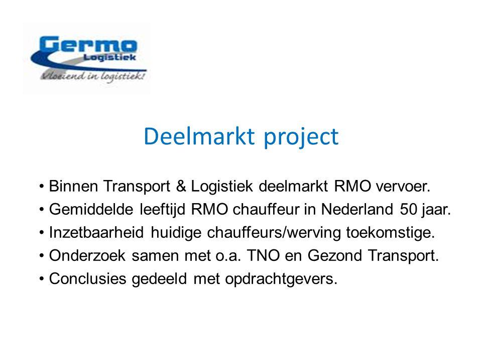 Deelmarkt project Binnen Transport & Logistiek deelmarkt RMO vervoer.