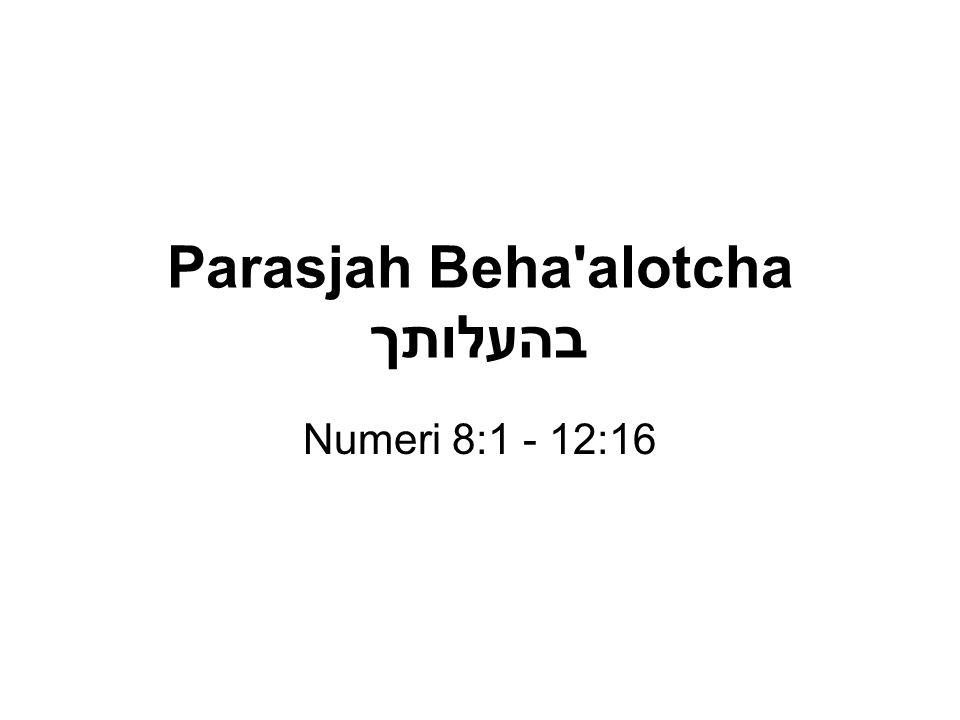 Parasjah Beha alotcha בהעלותך