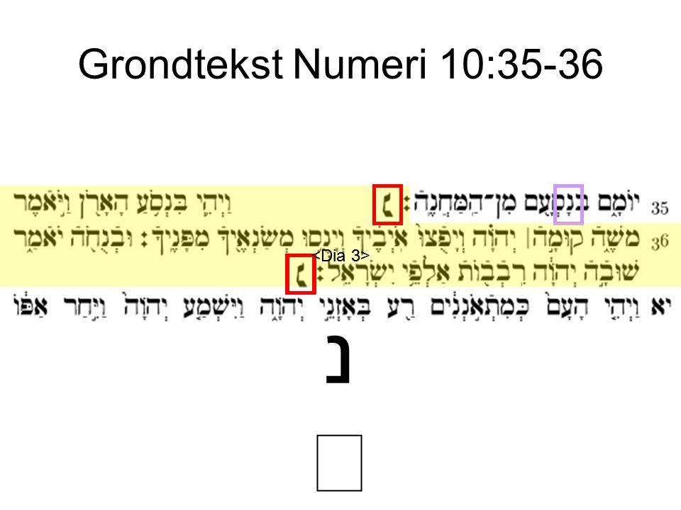 Grondtekst Numeri 10:35-36 <Dia 3> <Dia 3> נ ׆