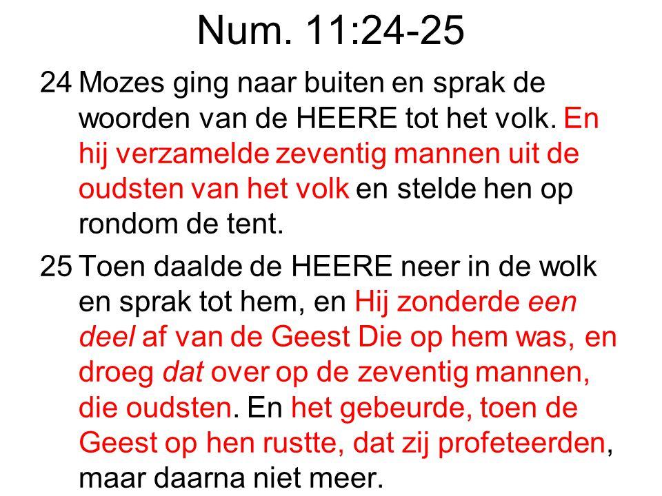 Num. 11:24-25