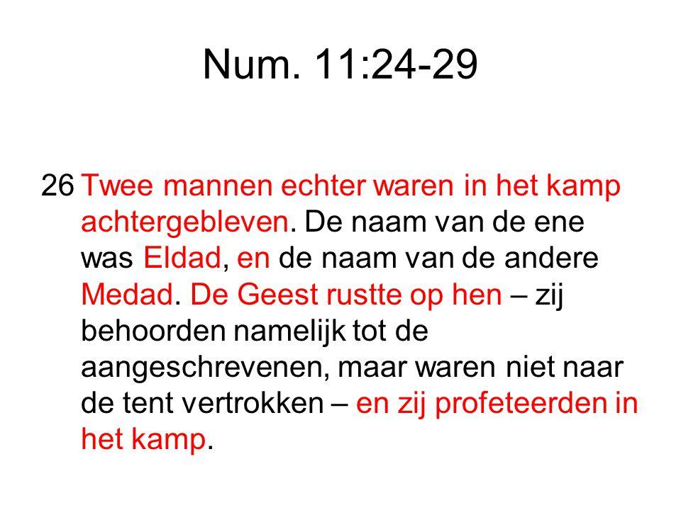 Num. 11:24-29