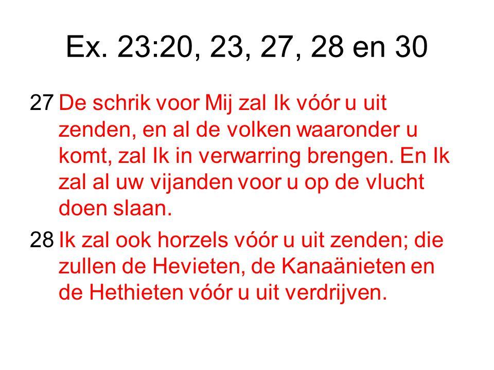 Ex. 23:20, 23, 27, 28 en 30