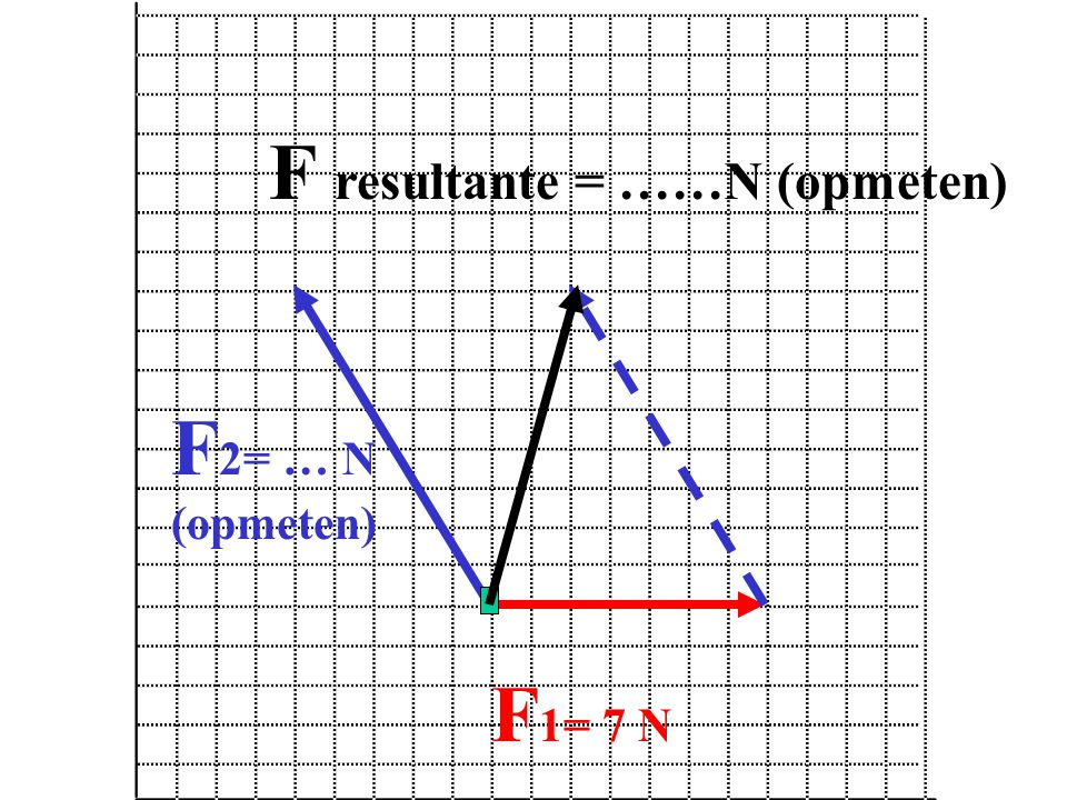 F resultante = ……N (opmeten)