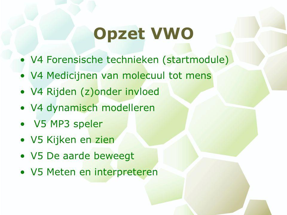Opzet VWO V4 Forensische technieken (startmodule)