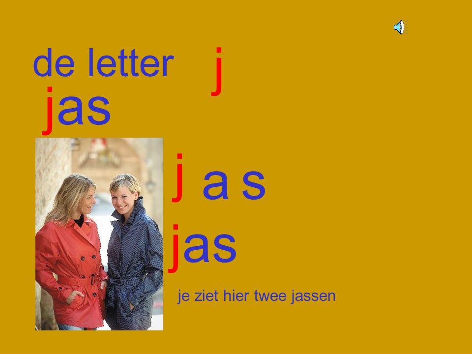 j de letter jas j a s jas je ziet hier twee jassen