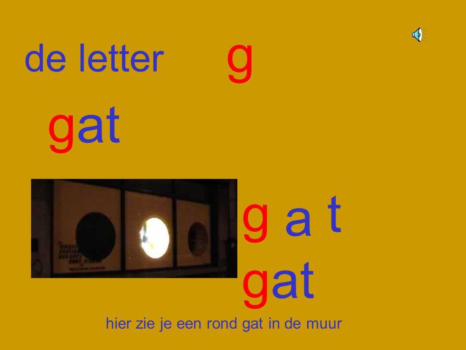 g de letter gat g t a gat hier zie je een rond gat in de muur