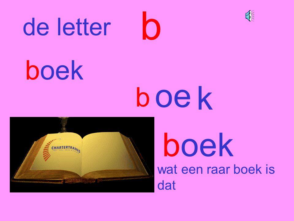 b de letter boek oe k b boek wat een raar boek is dat