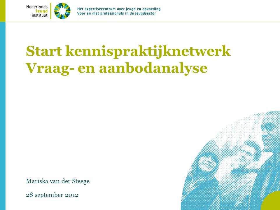 Start kennispraktijknetwerk Vraag- en aanbodanalyse