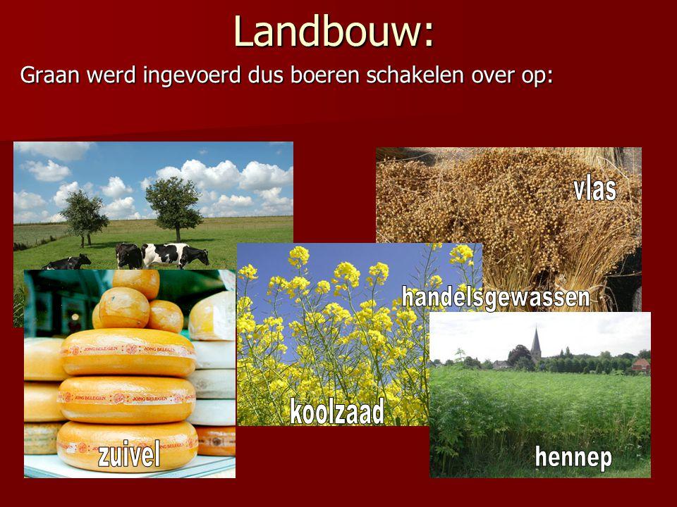Landbouw: Graan werd ingevoerd dus boeren schakelen over op: vlas