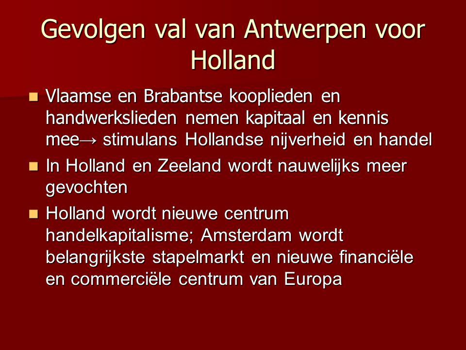 Gevolgen val van Antwerpen voor Holland