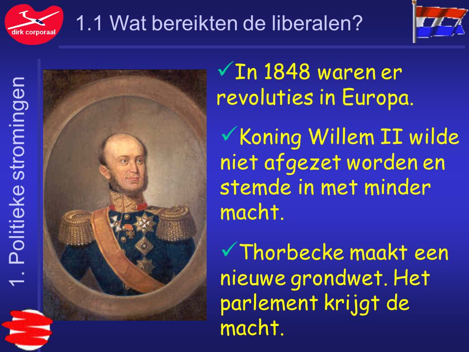 In 1848 waren er revoluties in Europa.