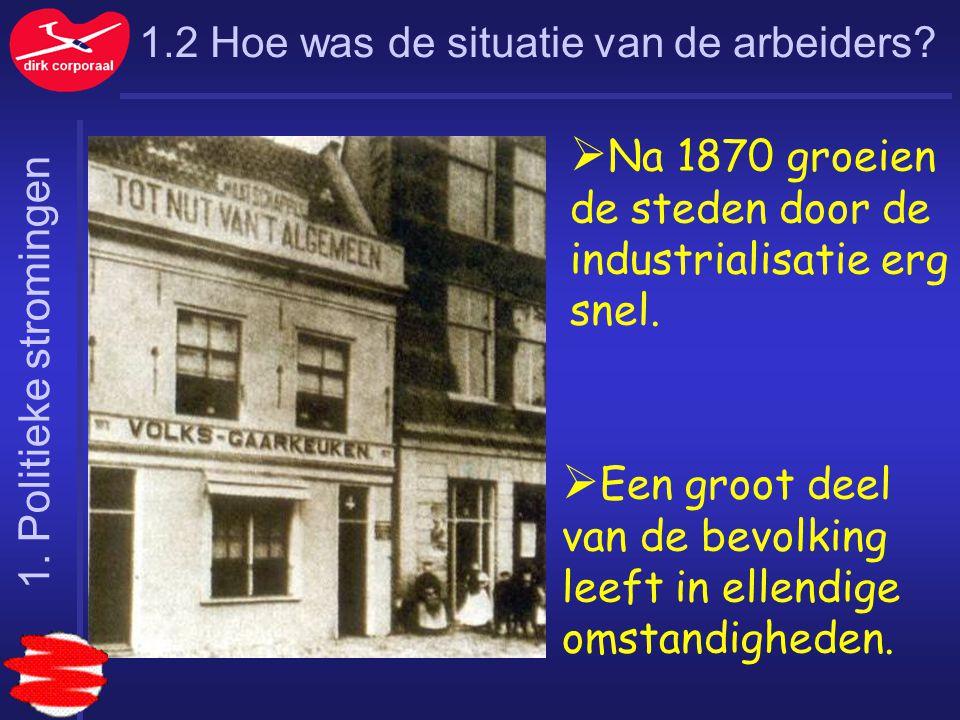 Na 1870 groeien de steden door de industrialisatie erg snel.