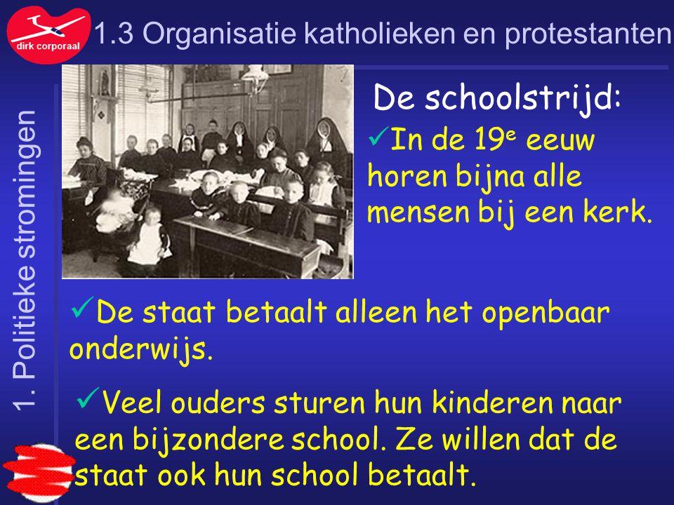 De staat betaalt alleen het openbaar onderwijs.